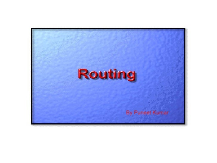 Default Routing   A default route is a special type of static route. A default route is a route   to use for situations wh...