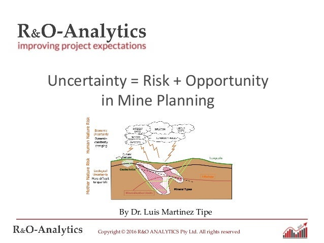 Copyright © 2016 R&O ANALYTICS Pty Ltd. All rights reserved By Dr. Luis Martinez Tipe Uncertainty = Risk + Opportunity in ...