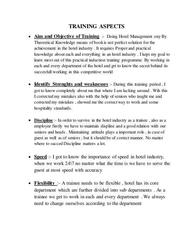 Training report 14-15