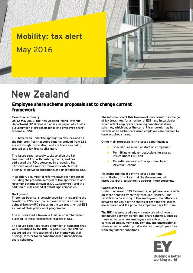 New Zealand - Proposed Employee Share Scheme Changes