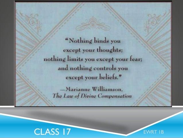 CLASS 17  EWRT 1B