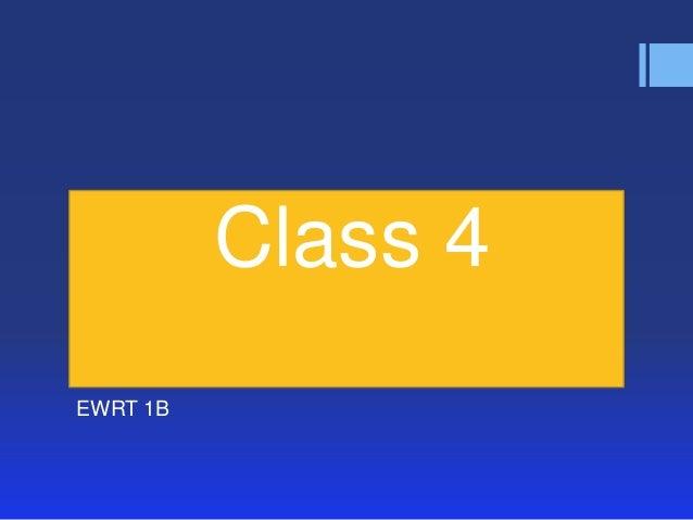 Class 4EWRT 1B