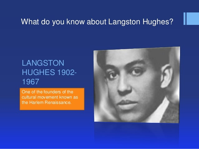 Langston hughes and the harlem renaissance essay