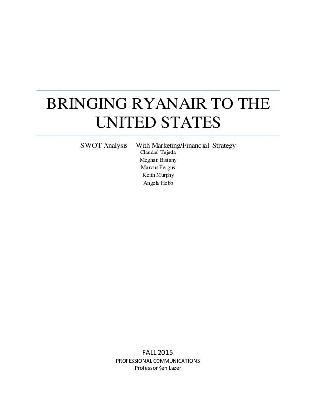 Ryanair financial analysis