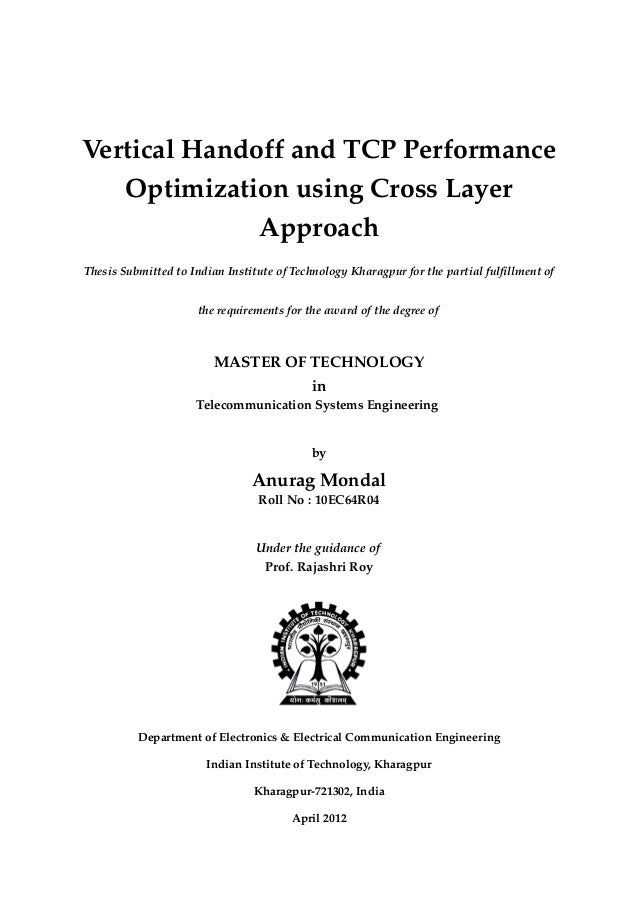 Thesis for vertical handoff