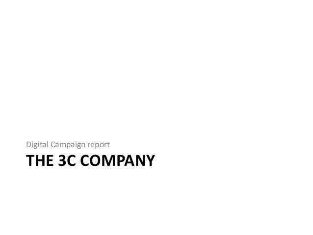 THE 3C COMPANY Digital Campaign report