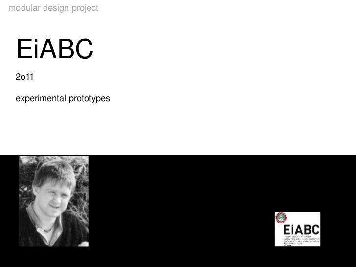 modular design project  EiABC  2o11  experimental prototypesEiABC                       chair building construction