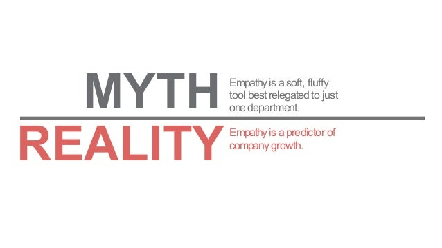 Empathyis apredictor of companygrowth. MYTH Empathyis asoft, fluffy tool best relegated to just onedepartment. REALITY