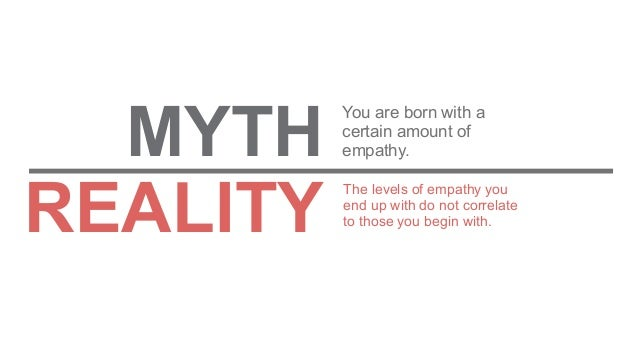 The levels of empathy you end up with do not correlate to those you begin with. You are born with a certain amount of empa...