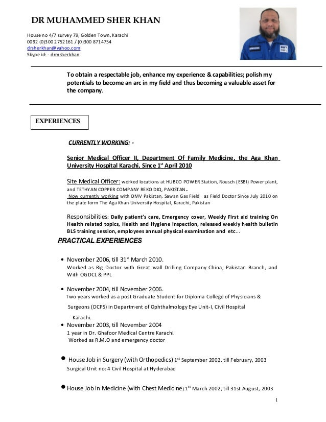 dr sher khan cv updated till may 2015