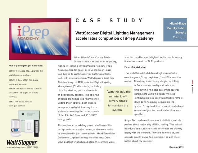 WattStopper-DLM-accelerates-completion-of-iPrep-Academy-Case-Study Wattstopper Lmdm Wiring Diagram on
