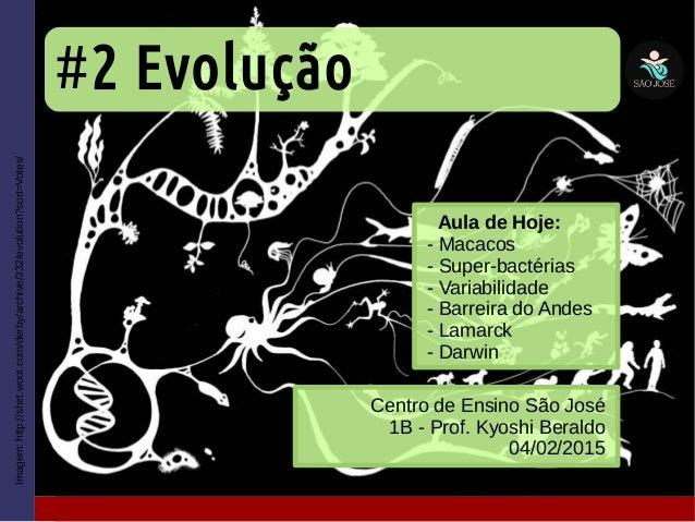 #2 Evolução Centro de Ensino São José 1B - Prof. Kyoshi Beraldo 04/02/2015 Imagem:http://shirt.woot.com/derby/archive/332/...