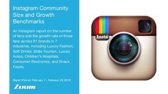 Report Period: February 1 - February 29, 2016 Instagram Community Size and Growth Benchmarks An Instagram report on the nu...