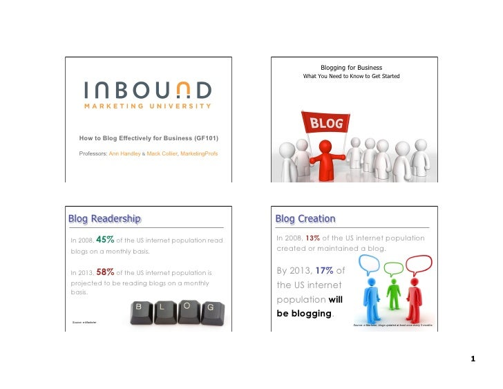 Blogging for Business                                                                      What You Need to Know to Get St...