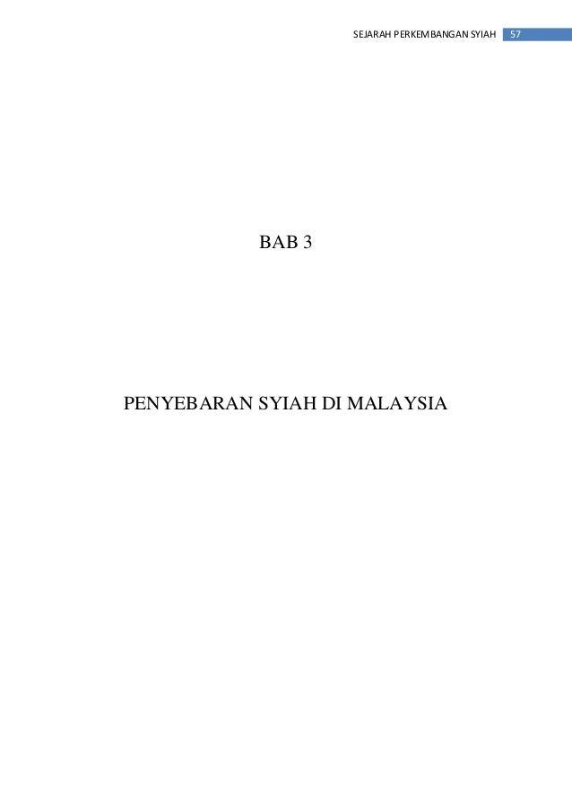 57SEJARAH PERKEMBANGAN SYIAH BAB 3 PENYEBARAN SYIAH DI MALAYSIA