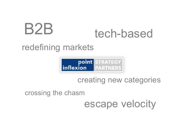 B2B tech-based crossing the chasm escape velocity redefining markets creating new categories