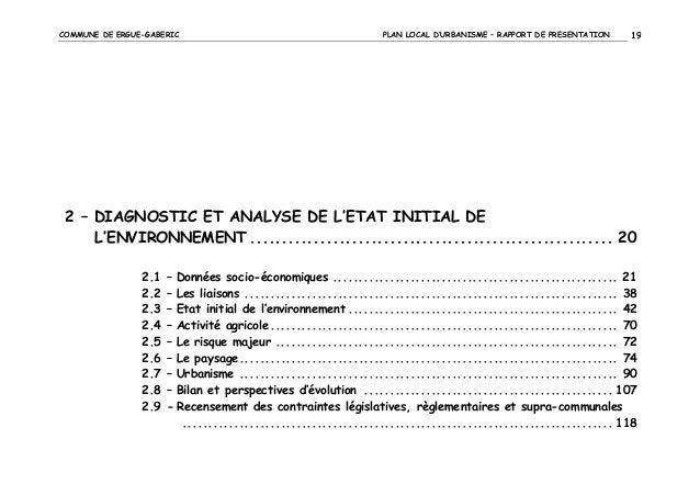 COMMUNE DE ERGUE-GABERIC  PLAN LOCAL D'URBANISME – RAPPORT DE PRESENTATION  19  2 – DIAGNOSTIC ET ANALYSE DE L'ETAT INITIA...