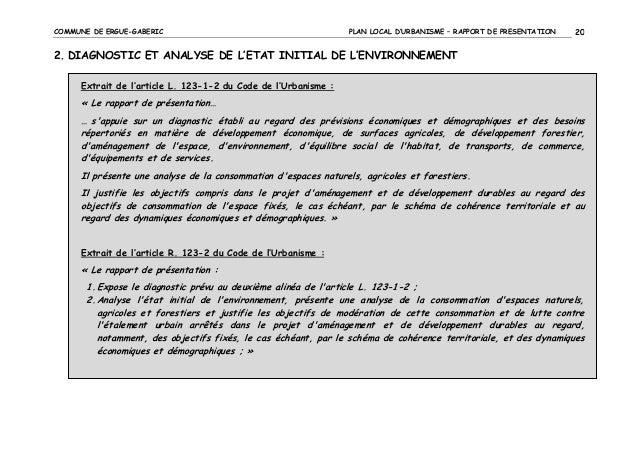 COMMUNE DE ERGUE-GABERIC  PLAN LOCAL D'URBANISME – RAPPORT DE PRESENTATION  20  2. DIAGNOSTIC ET ANALYSE DE L'ETAT INITIAL...