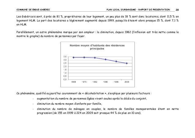 COMMUNE DE ERGUE-GABERIC  PLAN LOCAL D'URBANISME – RAPPORT DE PRESENTATION  28  Les Gabéricois sont, à près de 81 %, propr...