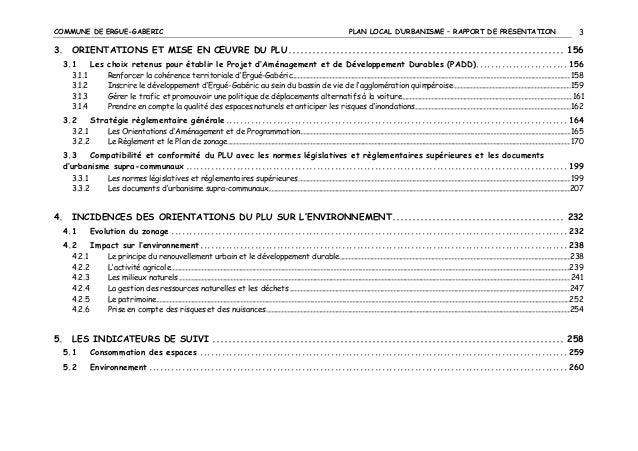 COMMUNE DE ERGUE-GABERIC  PLAN LOCAL D'URBANISME – RAPPORT DE PRESENTATION  3  3. ORIENTATIONS ET MISE EN ŒUVRE DU PLU ......