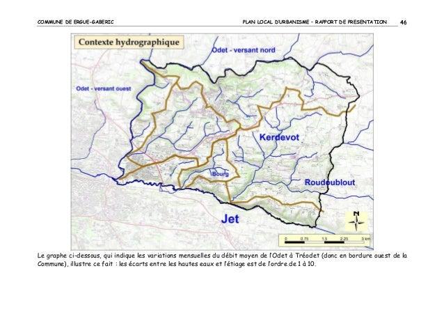COMMUNE DE ERGUE-GABERIC  PLAN LOCAL D'URBANISME – RAPPORT DE PRESENTATION  46  Le graphe ci-dessous, qui indique les vari...