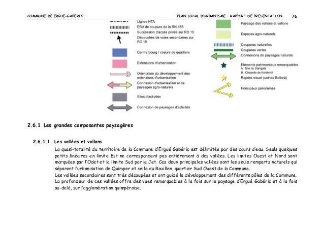COMMUNE DE ERGUE-GABERIC  PLAN LOCAL D'URBANISME – RAPPORT DE PRESENTATION  76  2.6.1 Les grandes composantes paysagères 2...