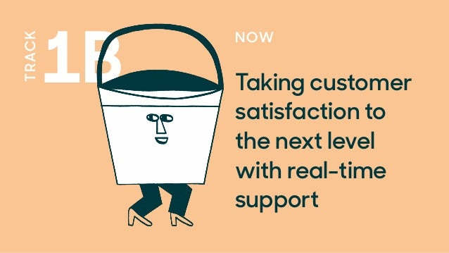 TRACK 1B NOW Taking customer satisfaction to the next level with real-time support