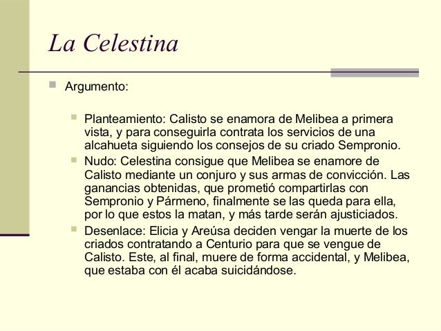 1 bto tema 12 for La celestina argumento
