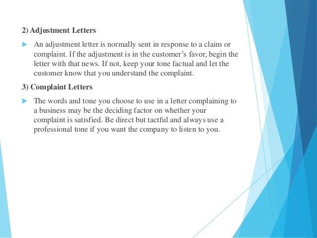 Business letter 5 2 adjustment letters spiritdancerdesigns Gallery