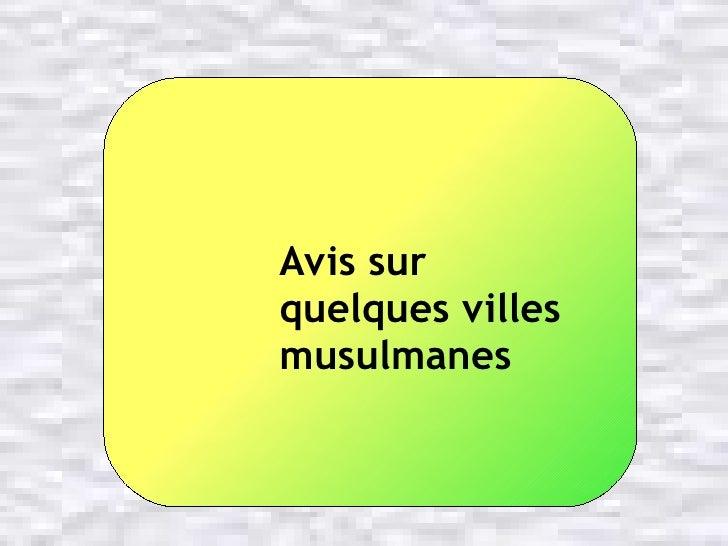 Avis sur  quelques villes musulmanes