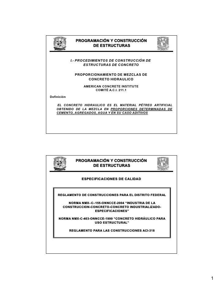 PROGRAMACIÓN Y CONSTRUCCIÓN                       DE ESTRUCTURAS                I.- PROCEDIMIENTOS DE CONSTRUCCIÓN DE     ...