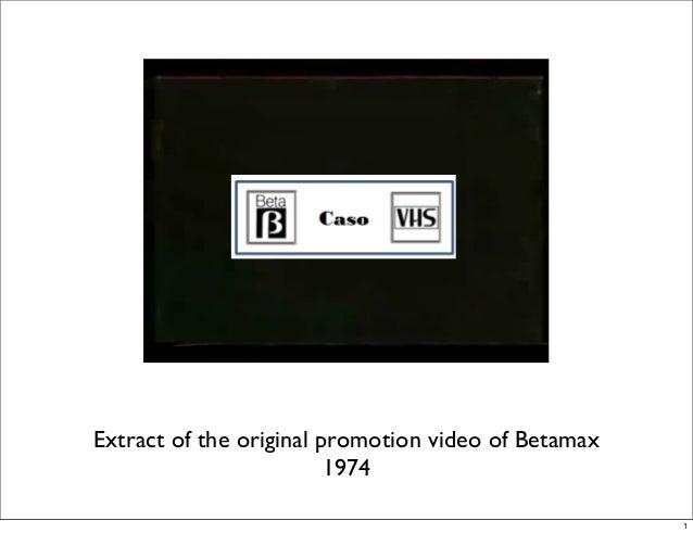 Extract of the original promotion video of Betamax 1974 1