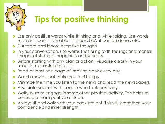 strategies for positive thinking 5 days ago  retrain your brain to look on the bright side with these strategies from  the  positive and the negative thinking eugenio marongiu/shutterstock.