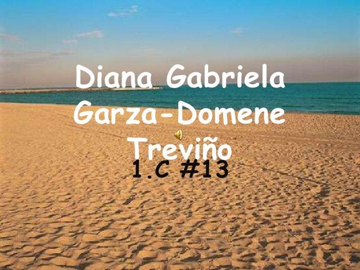 Diana Gabriela Garza-Domene Treviño<br />1.C #13 <br />