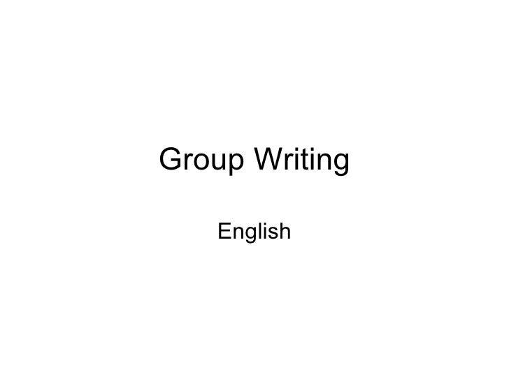 Group Writing English