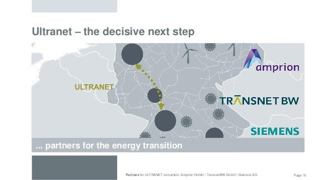201604 Presentation Ultranet Siemens Transnet Amprion