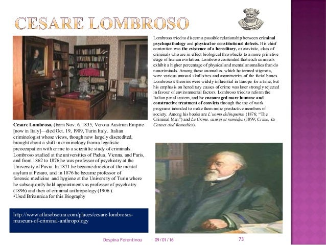 Cesare Lombroso: Biography, Theory & Criminology - Video ...