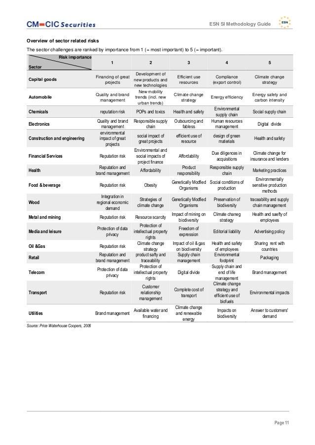 ESN SI Methodology