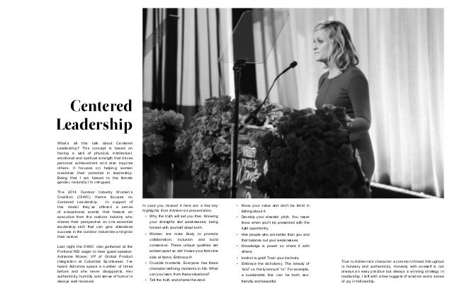 Centered Leadership In case you missed it here are a few key highlights from Adrienne's presentation. • Why the truth wil...