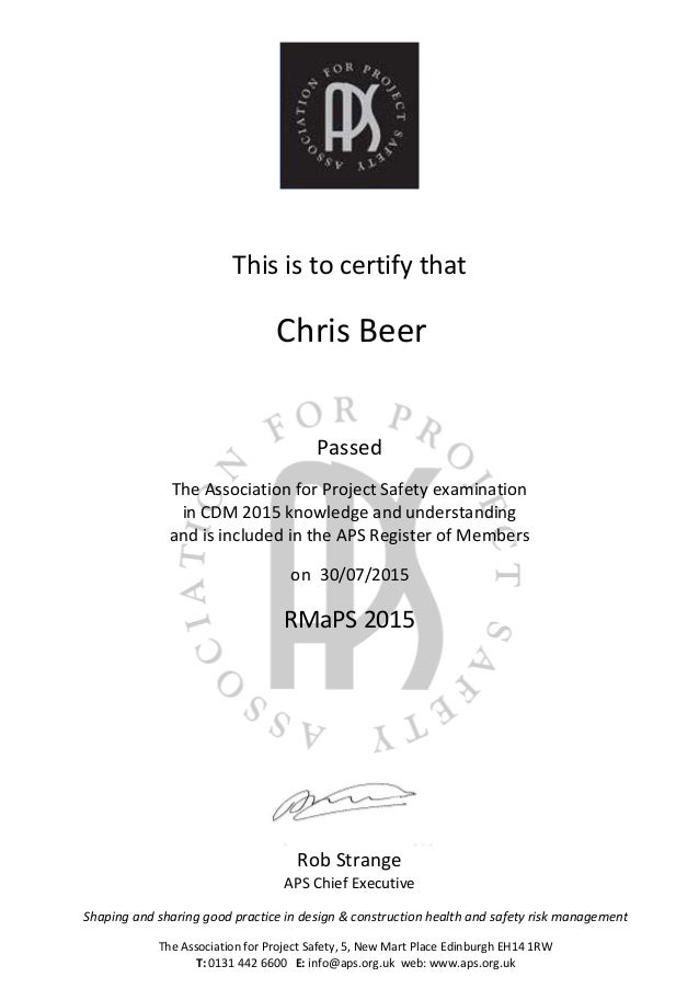 E Certificate Cdm 20151514