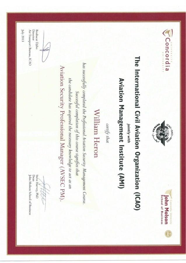 Avsec Pm Certificate 1