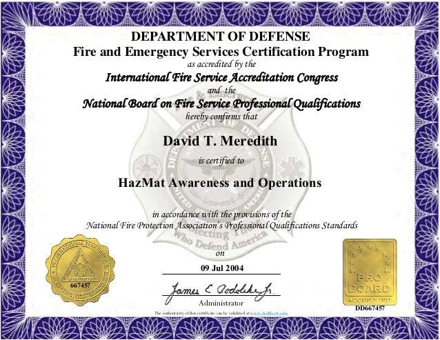 hazmat awareness fire firefighter operations officer inspector airport technician instructor certificate ii hazardous materials tech slideshare upcoming