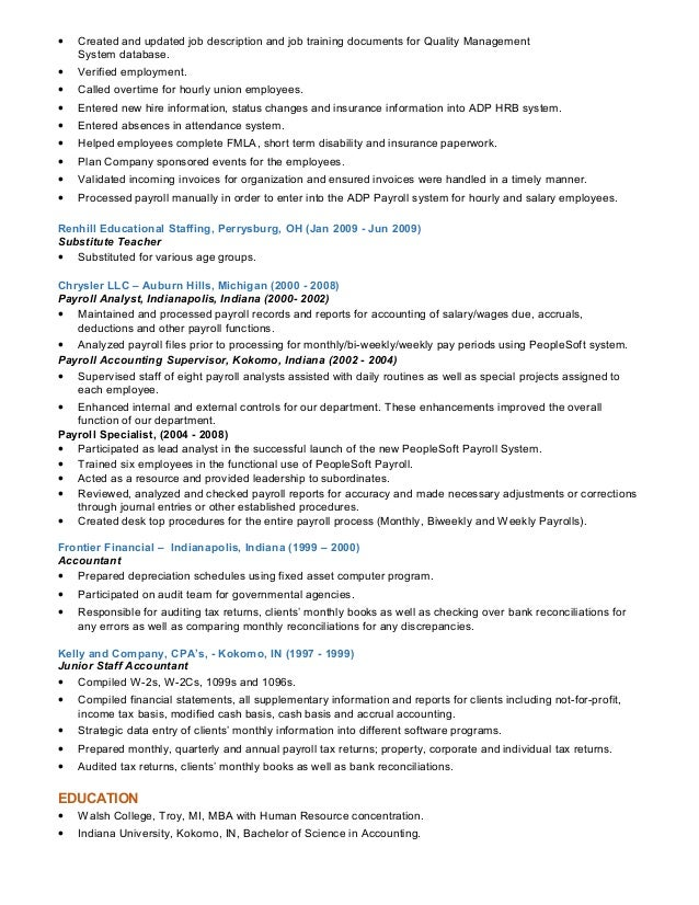 Stunning Indianapolis Accounting Resume Ideas - Office Worker ...