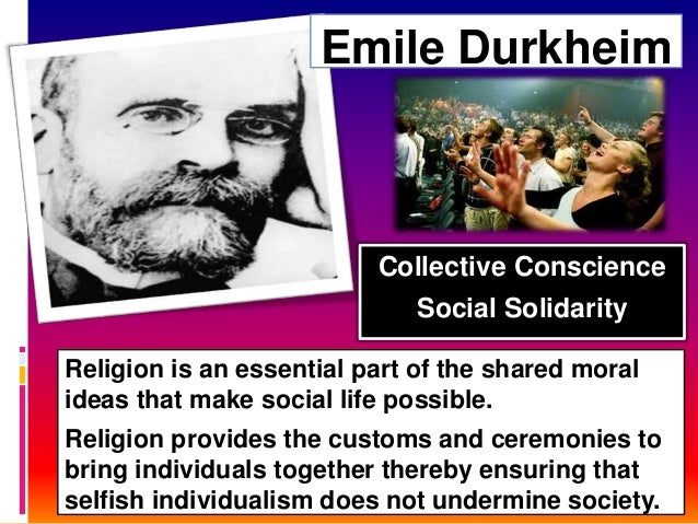 Religion is an essential part of the shared moral ideas that make social life possible. Religion provides the customs and ...