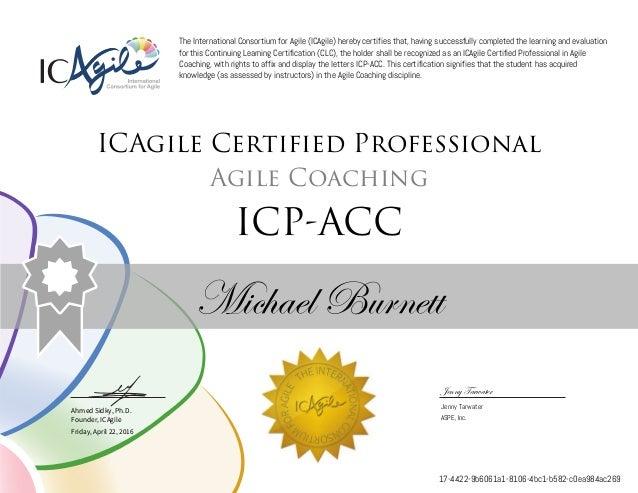 Agile Coaching Icp Acc Certificate