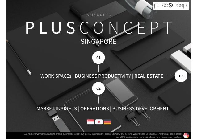 P L U S C O N C E P T A Singapore-German business to enable businesses to start-out & grow in Singapore, Japan, Germany an...