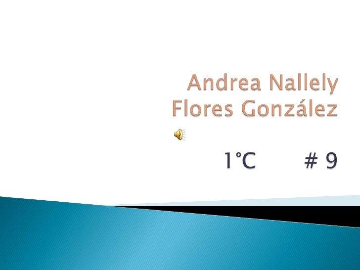 Andrea Nallely Flores González1°C       # 9<br />
