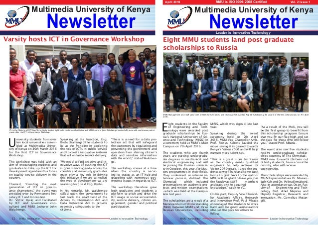 Leader in Innovative TechnologyMMU Newsletter Leader in Innovative TechnologyMMU Newsletter Newsletter Multimedia Universi...
