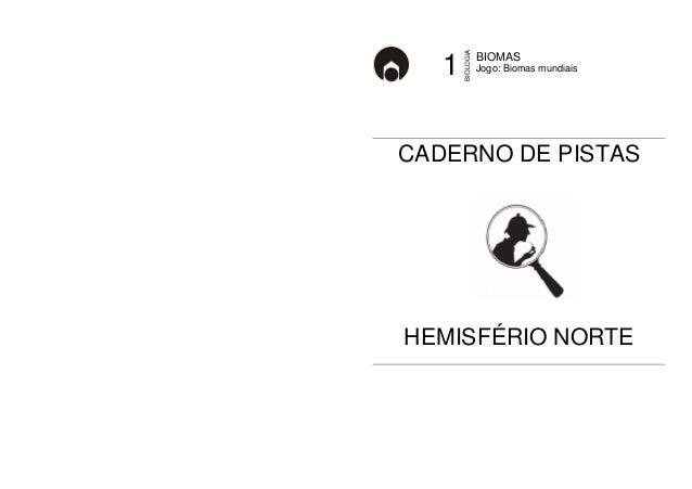 BIOMAS  1 Jogo: Biomas mundiais  BIOLOGIA  CADERNO DE PISTAS  HEMISFÉRIO NORTE