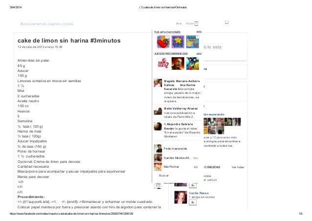 30/4/2014 (1) cake de limon sin harina #3minutos https://www.facebook.com/notes/mauricio-asta/cake-de-limon-sin-harina-3mi...